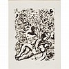 Marc Chagall LE COUPLE A L'ARBRE Lithograph