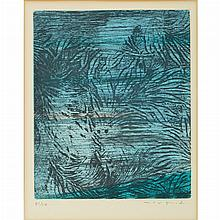 Max Ernst (1891-1976) POUR UN TEXTE DE RENE CREVEL:  FEUILLES EPARSES Color etching and aquatint