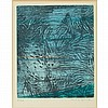 Max Ernst (1891-1976) POUR UN TEXTE DE RENE CREVEL:  FEUILLES EPARSES Color etching and aquatint, Max Ernst, $300