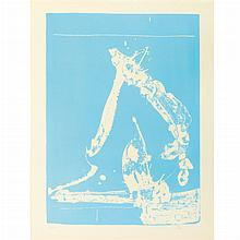 Robert Motherwell UNTITLED Lithograph printed in blue