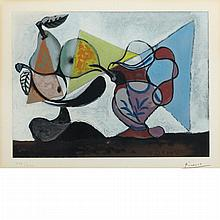 After Pablo Picasso NATURE MORTE AUX POIRES ET AU PICHET Color aquatint