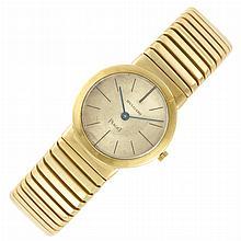 Gold 'Tubogas' Bangle-Watch, Bulgari, Piaget