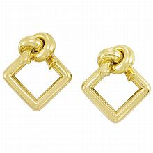 Pair of Gold Earrings, Cartier