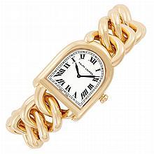 Lady's Rose Gold 'Stirrup' Wristwatch, Ralph Lauren