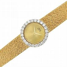 Lady's Gold and Diamond Wristwatch, Piaget