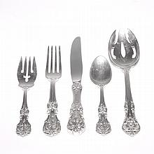 Reed & Barton Sterling Silver Partial Flatware Service; Together with a Set of Four Gorham Sterling Silver Serving Pieces