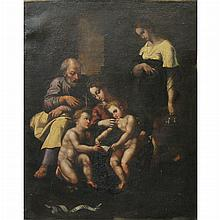 Central Italian School 17th Century The Holy Family with St. John the Baptist