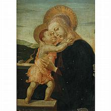 Manner of Alessandro di Mariano di Vanni Filipepi, called Sandro Botticelli Madonna and Child