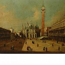 Manner of Giovanni Antonio Canal, called Canaletto The Piazza di San Marco, Venice