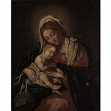 Attributed to Giovanni Battista Salvi, called il Sassoferrato Madonna and Child with a Carmelite Scapular