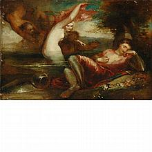 Attributed to William Etty The Dream of a Knight