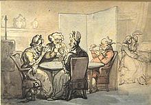 Thomas Rowlandson British, 1756-1827 A Game of Whist