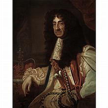 Workshop of Sir Peter Lely Portrait of Charles II of England Wearing the Regalia of the Order of the Garter