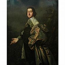 English School  17th Century Portrait of a Gentleman in a Gray Cloak