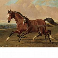 Follower of John Frederick Herring the Elder Mare and Foal