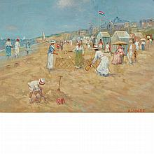 Andre Chalet French, b. 1954 Badminton on the Beach
