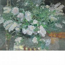 20th Century School Large Vase of Lilacs