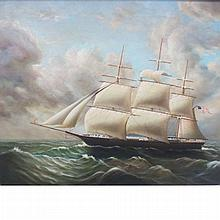 D. Tayler 20th Century American Ship at Sea