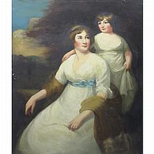 Attributed to John Hoppner Mother and Daughter