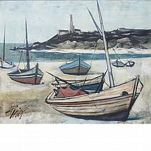 Charles Levier French, 1920-2003 Beached Boats