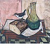 Charles Levier French, 1920-2003 Still Life with a Loaf of Bread and Bird
