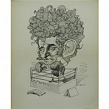 David Levine American, 1926-2009 Norman Mailer, 1967