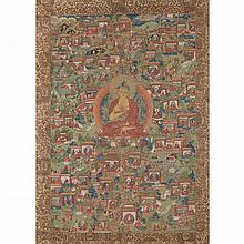 Tibetan Thangka of Buddha
