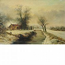 After Louis Apol House in a Snowy Landscape