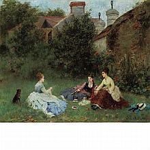 Noel Saunier French, 1847-1890 Garden Party, 1874