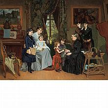 Louis Edmond Pomey French, 1831-1891 La Fete de la Grand'Maman