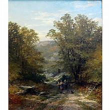 John Syer British, 1815-1885 Landscape with Figures, 1873