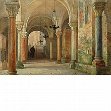 William Harding Smith British, 1848-1922 Monk in an Abbey, Verona, 1891
