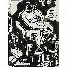 Hans Hofmann German, 1880-1966 Seated Nude