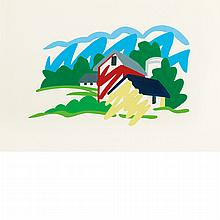 Tom Wesselmann American, 1931-2004 Study for House and Barn in the Distance (Variation), 1991   Signed Wesselma...