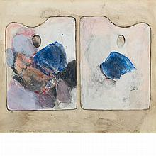 Jim Dine American, b. 1935 Two Palettes for the Beginning of Fall, 1963   Inscribed as titled, and for N., s...
