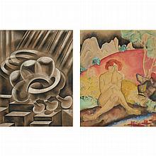 Kimon Nicolaides, (i) Seated Nude, (ii) Abstract