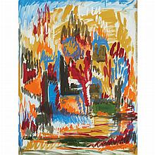 Jose de Creeft American, 1884-1982 Abstract Landscape, 1960
