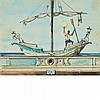 Eugene Berman Russian/American, 1899-1972 La Barca (2 Variation), 1955   Signed E.B. and dated 1955 (l...