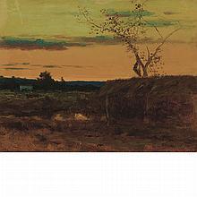 George Inness American, 1825-1894 Late Sunset, circa 1884