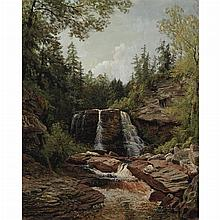 John Ross Key American, 1837-1920 Landscape with Waterfall