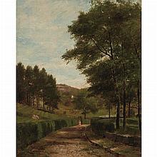 George Frank Higgins American, 1850-1884 Strolling Down a Country Lane