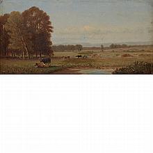 Clinton Loveridge American, 1838-1915 Cows in a Landscape