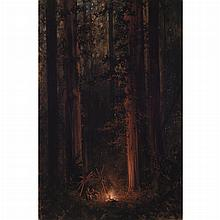 Jules Tavernier  French/American, 1844-1889 Into the Woods