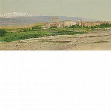 Frederic Edwin Church American, 1826-1900 View of Baalbek, circa 1868