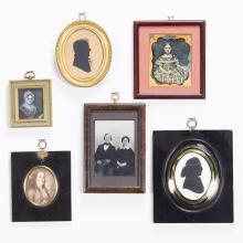 Group of Framed Portraits, Photographs, Cased Images and Silhouettes