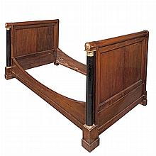 Empire Gilt-Bronze Mounted Mahogany and Part Ebonized Bedstead