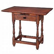 Queen Anne Pine and Maple Tavern Table