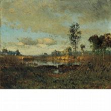 Ivan Pavlovich Pokhitonov Ukrainian, 1851-1924 Etang dans les Landes, 1886