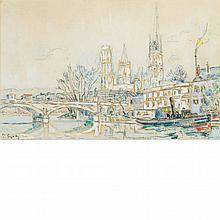 Paul Signac French, 1863-1935 Rouen, April 1924   Signed P. Signac (ll); inscribed Rouen and dated ...