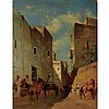 Eugene Fromentin French, 1820-1876 Moorish Street Scene, 1872   Signed Eug. Fromentin (ll); numbered O-58...